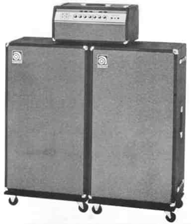 Amplificador mítico de la marca Ampeg para bajo