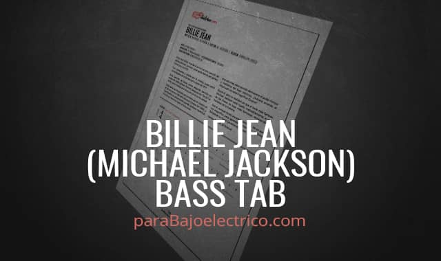 Billie Jean Bass TAB