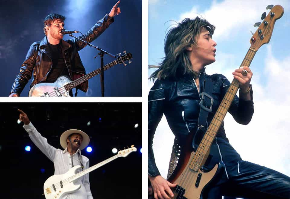 Bajistas que tocan el bajo y cantan a la vez habla inglesa