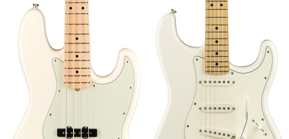 Grosor de las cuerdas de un bajo y una guitarra
