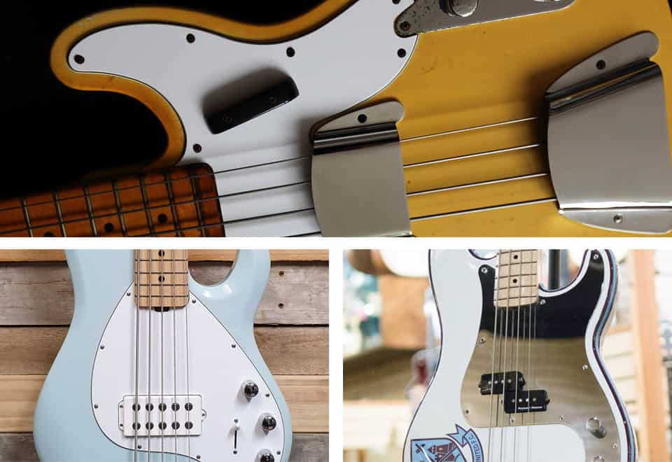 Golpeador para bajo eléctrico pickguard bass