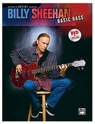 Libro de Billy Sheehan para bajo fretless